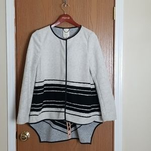 Elevenses Ardley Boiled Wool Sweater Coat Small